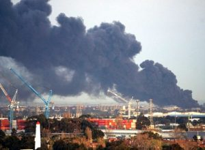 Kebakaran di salah satu pabrik di West Footscray