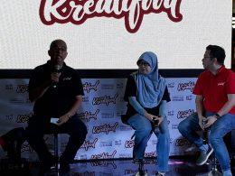 Kepala Subdirektorat Pasar Segmen Retail Bekraf, Muhammad Jufry saat jumpa pers di Matos, Kamis (18/10/2018).