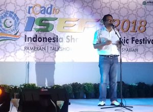 Deputi Kepala Perwakilan Bidang Ekonomi dan Keuangan Bank Indonesia (BI) Malang, Jatim, Jaka Setiawan saat membuka Pameran & Talkshow Road to ISEF di Matos, Sabtu (1/12/2018).