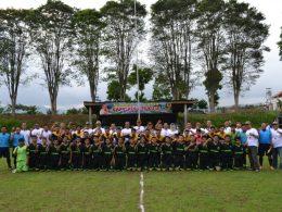 Pembukaan turnamen sepakbola Kapolres Cup di Lapangan Bumiaji, Kota Batu
