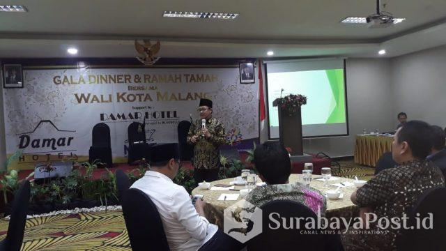Wali Kota Malang Drs. H. Sutiaji saat menghadiri Gala Dinner Festival MalangSae di Hotel Savana.