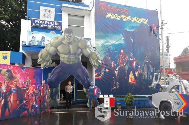 Pospam Polres Batu, Jatim ini jadi tempat berswafoto warga dan wisatawan.
