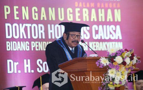 Gubernur Jatim Dr H Soekarwo SH MH MBA