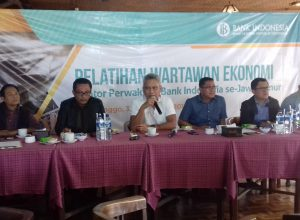 Kepala BI Jatim Defi Ahmad Johansyah kala menguraikan program BI dalam acara Pelatihan Wartawan Ekonomi Kantor Perwakilan BI se Jatim di Lava View Lodge Hotel Bromo, Rabu (30/1/2019)