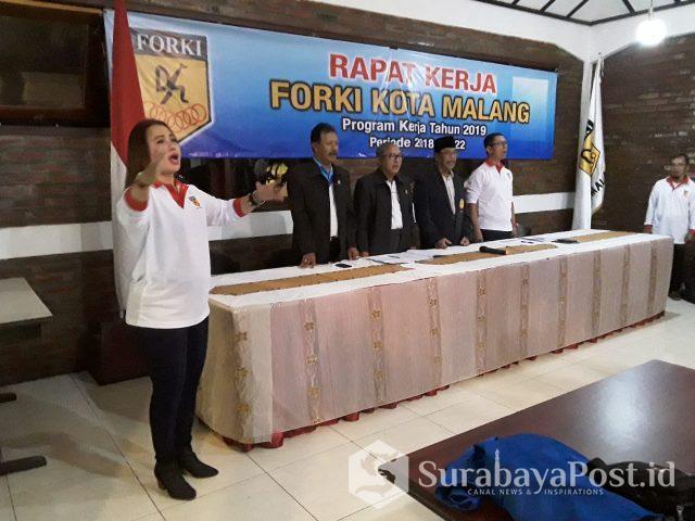 FORKI Kota Malang menggelar Raker untuk menghadapi Porprov Jatim di Tuban, Juli nanti.