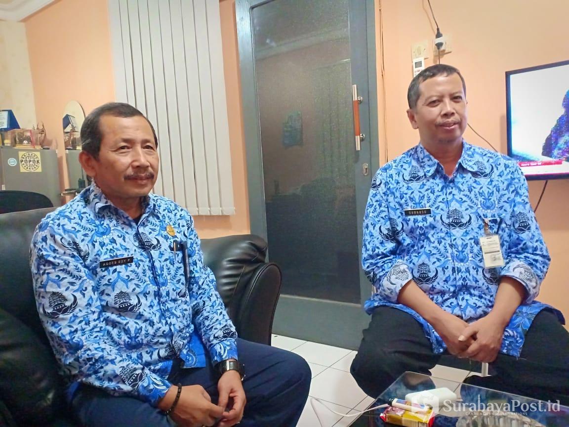 Kadis DLH Kota Malang, Agoes Edy Poetranto didampingi Kabid Tata Lingkungan Hidup Sudarso