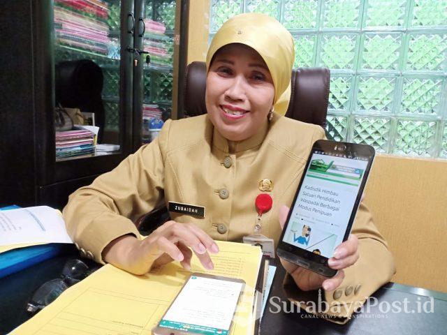 Kepala Dinas Pendidikan Kota Malang Dra Hj Zubaidah.