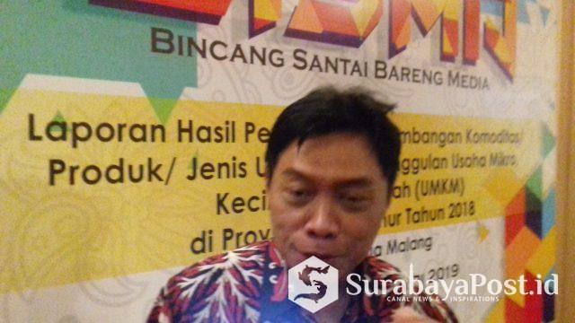 Kepala Perwakilan BI Malang Azka Subhan Aminurridho usai Bincang Santai Bersama Media di Malang, Rabu (27/2/2019).