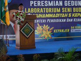 Mendikbud RI Muhadjir Effendy berharap Laboratorium Seni Budaya bisa meningkat kreaktivitas siswa.