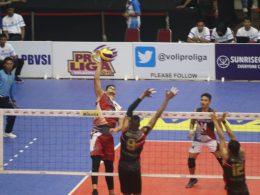 Tim Putra Bhayangkara Samator lolos ke grand final Proliga 2019 setelah mengalahkan Bank SumselBabel di GOR Ken Arok Malang.