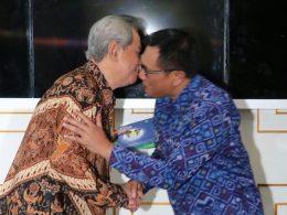 Wawali Sofyan Edi Jarwoko kala menyambut Anggita Wantimpres Prof Dr HA Malik Fadjar di Balaikota Malang, Kamis (21/2/2019).