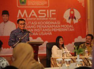 Wawali Sofyan Edi Jarwoko saat membuka acara MASIF.