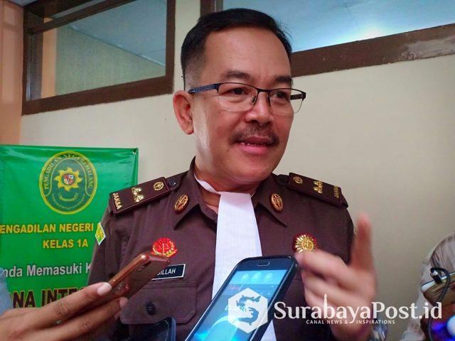 Ketua tim JPU, Ubaidillah yang menangani kasus terdakwa Maria Purbowati.