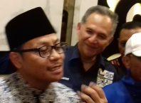 Walikota Malang Sutiaji (kiri) bersama Kepala DJP Malang Utara Rudi G Bestari dan Kepala BP2D Kota Malang Ade Herawanto.