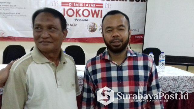 Agus Rahmat  (kanan) penulis buku Di Balik Layar Jokowi.