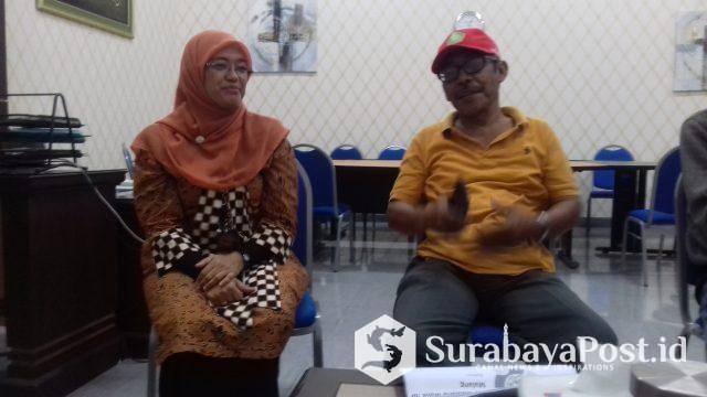 Ketua Senat UIN Maliki Malang Dr Muhtadi Ridwan dan Staf Kerjasama Internasional  UIN Maliki Malang Dewi Hafidah.