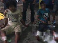 Para tersangka komplotan pencurian mobil yang diamankan Tim Resmob Polres Malang Kota.