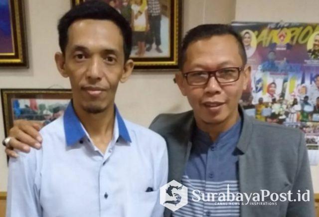 Pelaku UMKM, Teguh (kiri) saat menemui Wakil Ketua DPRD Kota Batu Hari Danah Wahyono.