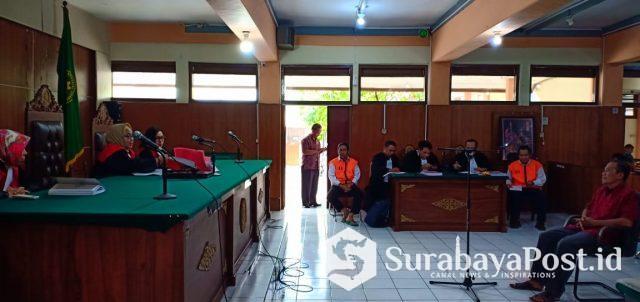 Saksi Amin Suhadi saat memberikan keterangan dalam persidangan