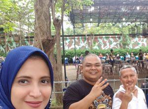 Caleg dari Partai Nasdem untuk DPR RI Rahma Sarita Al Jufri bersama pengusaha kesohor H Toriq dan lawyer kondang Indra Bayu SH MKn.