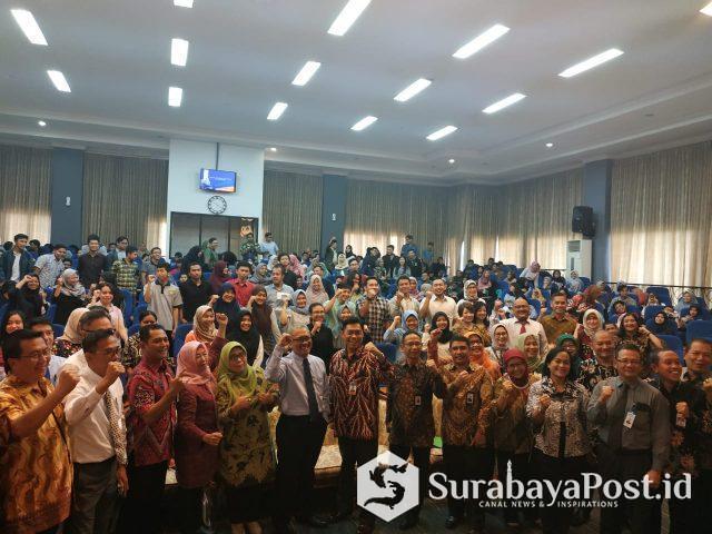 Sebanyak 40 pimpinan bank bersama mahasiswa peserta talk show Tantangan SDM Perbankan di Era Milenial.
