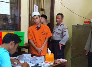Tahanan Polres Makota saat hendak mencoblos untuk Pilpres dan Pileg 2019.