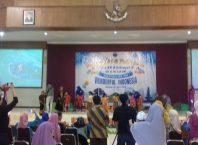 Pelepasan siswa KB & TK Lab UM di Sasana Budaya Universitas Negeri Malang, Kamis (20/6/2019) berlangsung meriah.