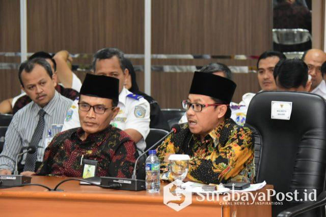 Wali Kota Malang Sutiaji saat mengikuti FGD Internasionalisasi Bandara Abdul Rahman Saleh Malang