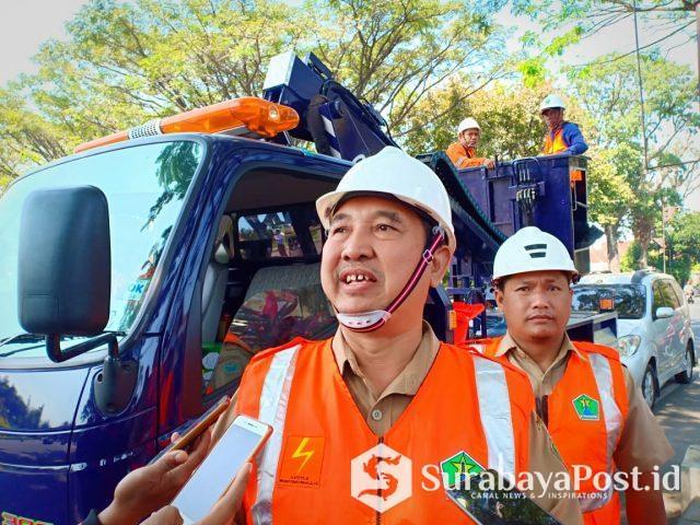 Kepala Bidang  Penerangan Jalan Umum (PJU) Dinas Perkim Kota Malang, Agus Sunarhadi,
