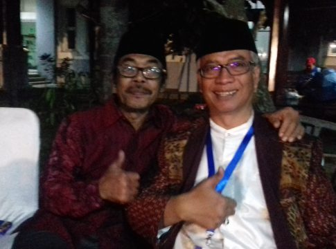 Ketua Senat UIN Maliki Malang Dr HA Muhtadi Ridwan (kiri) bersama WR 3 UIN Maliki Malang Dr Isroqunnajah