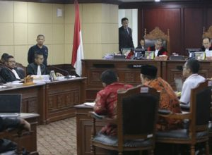 Suasana persidangan terkait PHPU legislatif di MK
