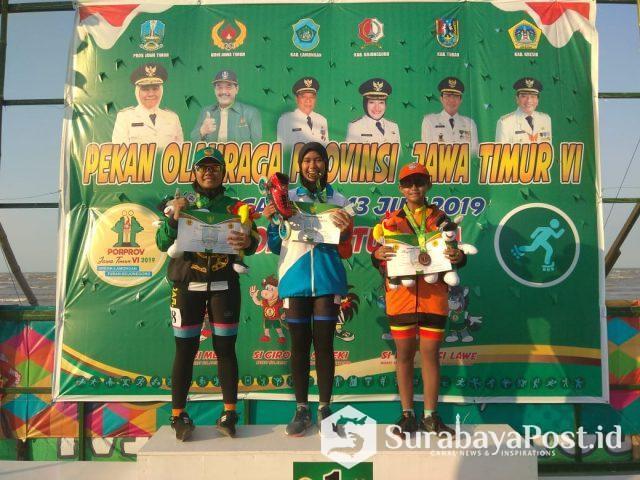 Putri Alisya WD, peraih emas Cabor Sepatu Roda ITT 500 meter putri