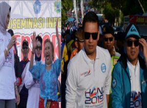 Ribuan warga Kota Batu ikut jalan sehat memperingati HANI 2019.