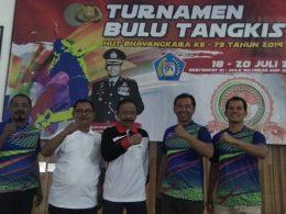Kapolsek Pujon dan anggota Polres, bersama Ketua 2 Kop SAE