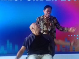 Kepala Perwakilan BI Malang Azka Subhan Aminurridho dan CEO GE Indonesia Handry Satriago