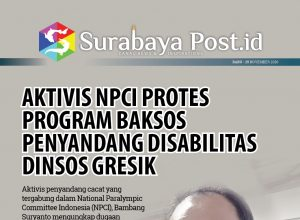 Aktivis NPCI Protes Program Baksos Penyandang Disabilitas Dinsos Gresik